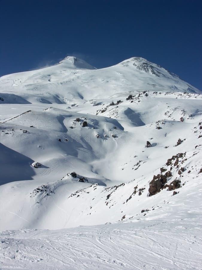 Elbrus. The Highest Mountain Of Europe. royalty free stock image