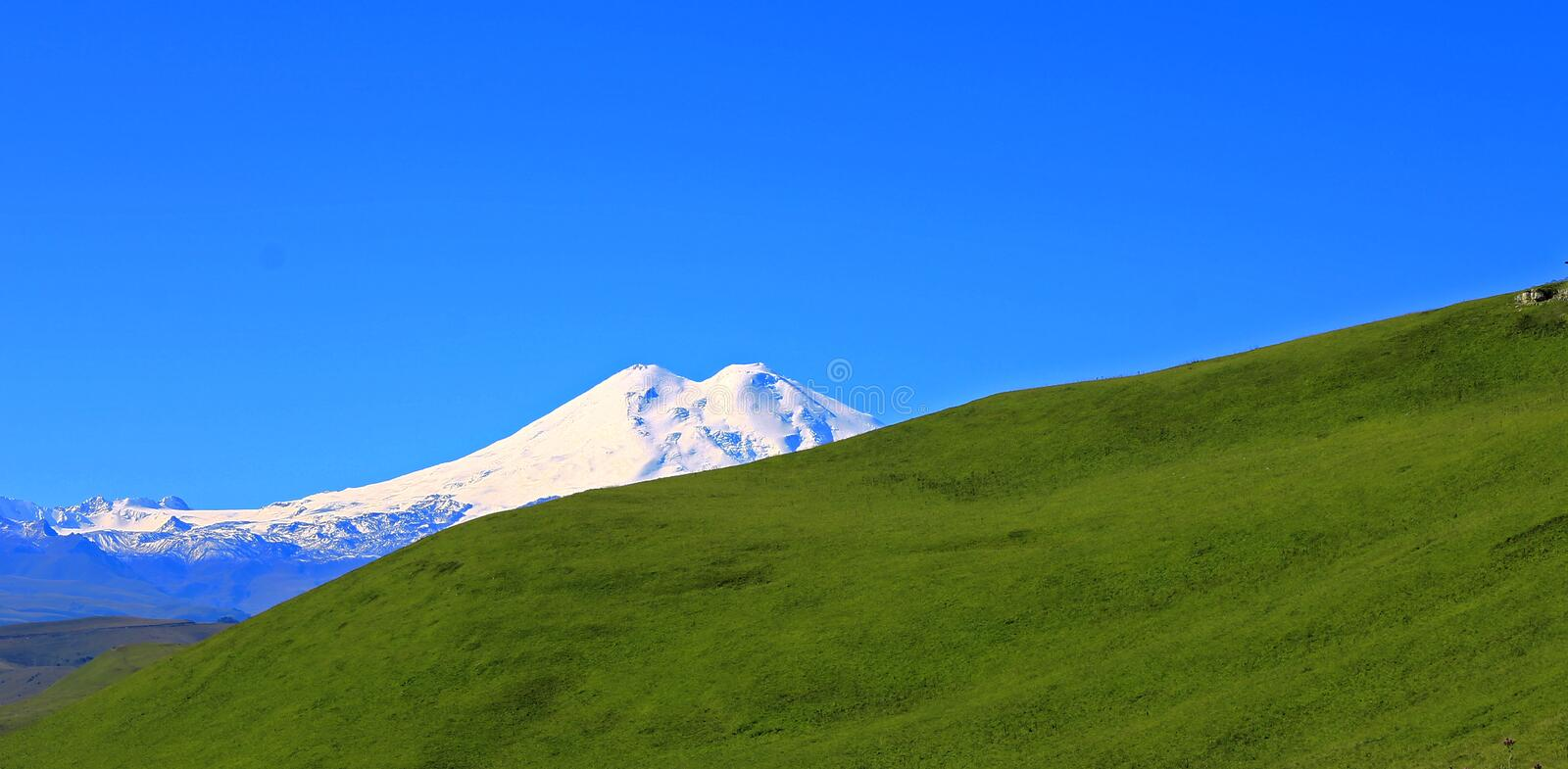 Elbrus mountain is highest peak of Europe. The Elbrus mountain is highest peak of Europe stock images