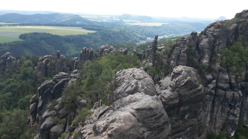 Elbsandstein山 免版税库存照片