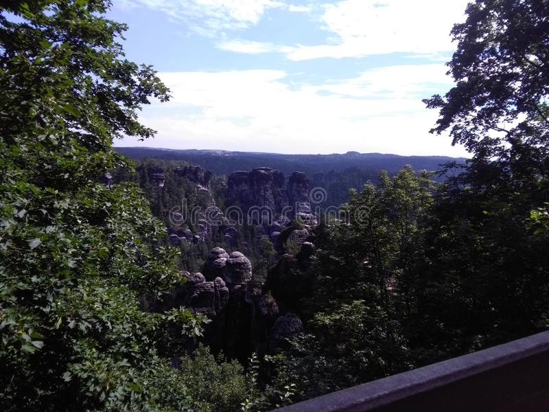 Elbsandsteingebirge stock afbeelding