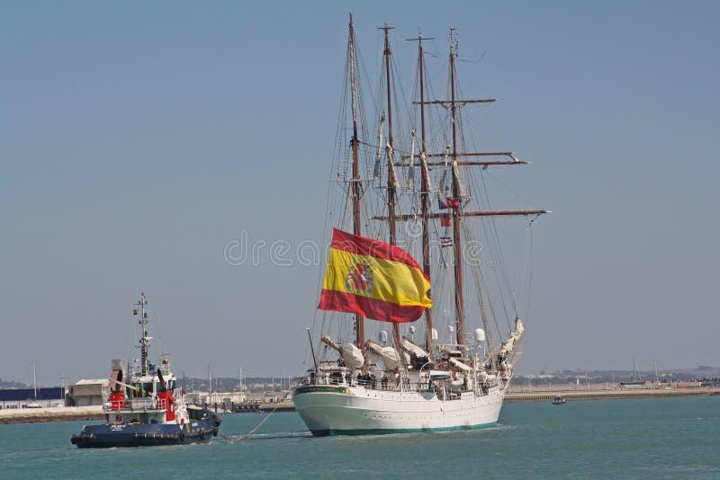 Elcano, begint met de reis royalty-vrije stock foto