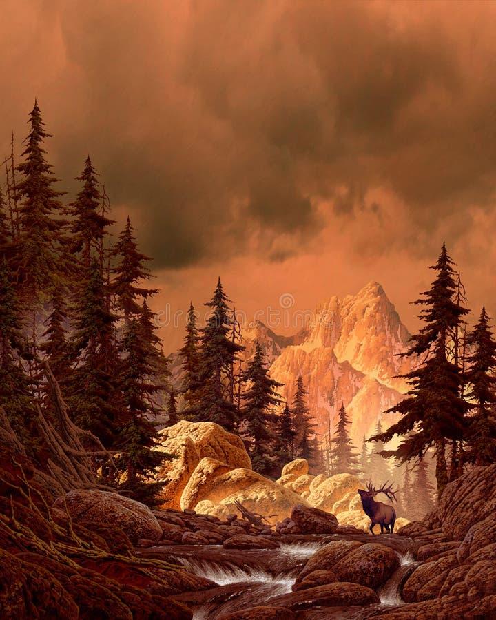 Elche in den Rockies stock abbildung