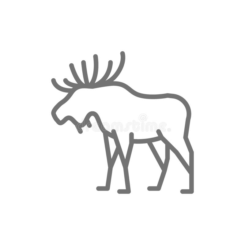 Elche, Rotwildlinie Ikone stock abbildung