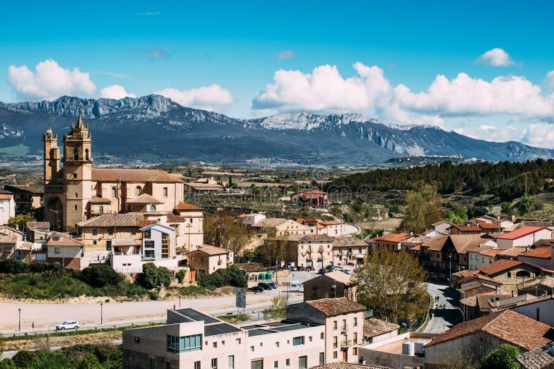 Elciego dorp, Spanje stock fotografie