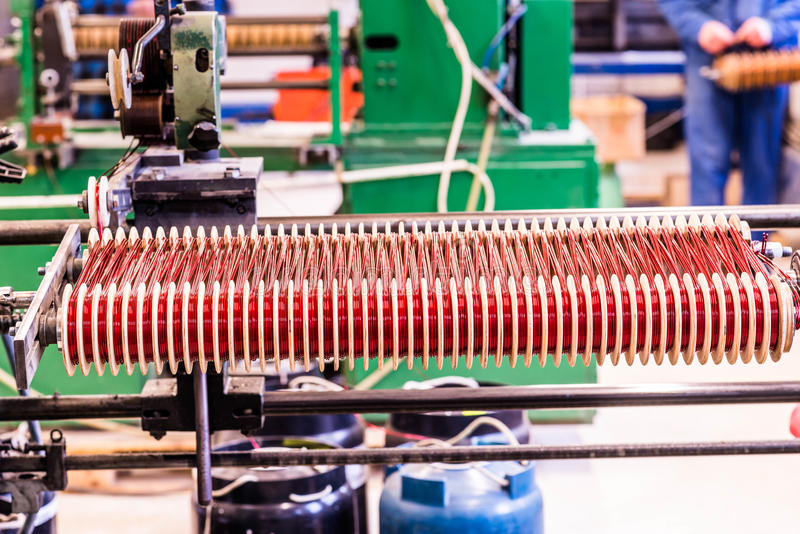 Elctric arrotola la produzione fotografie stock