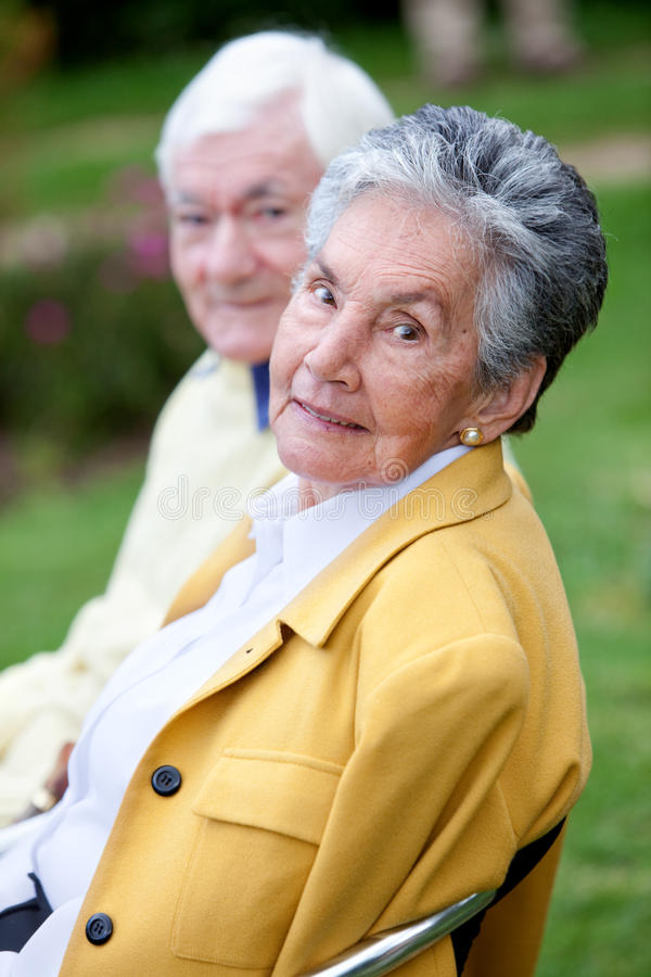 Download Elder couple stock image. Image of bench, male, sitting - 10149147