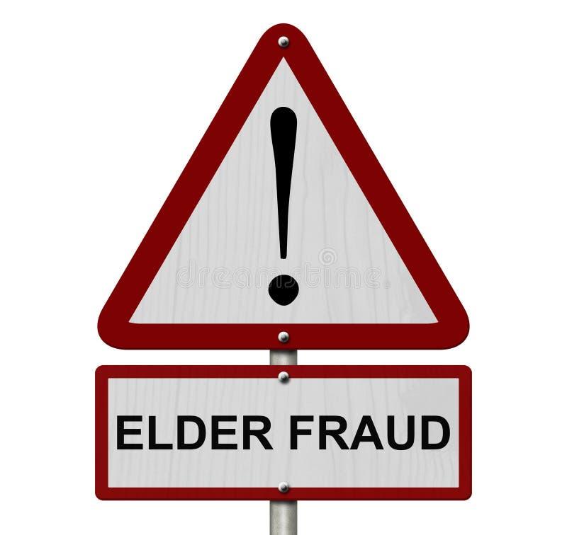 Elder Fraud Caution Sign vector illustration