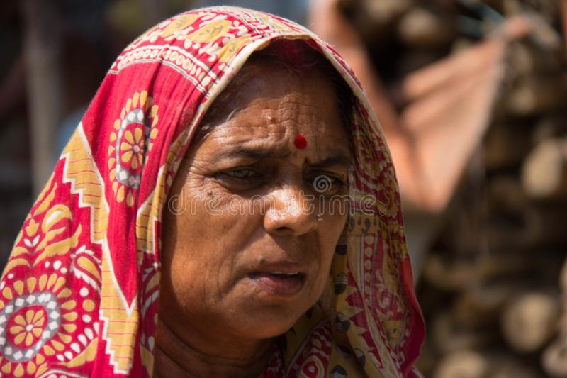 An Elder Woman in Eastern India stock photography