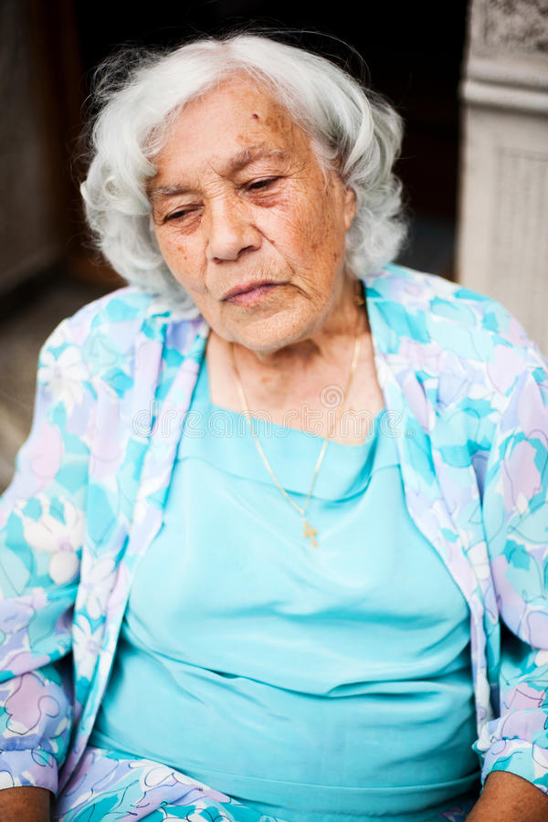Elder woman portrait royalty free stock photography
