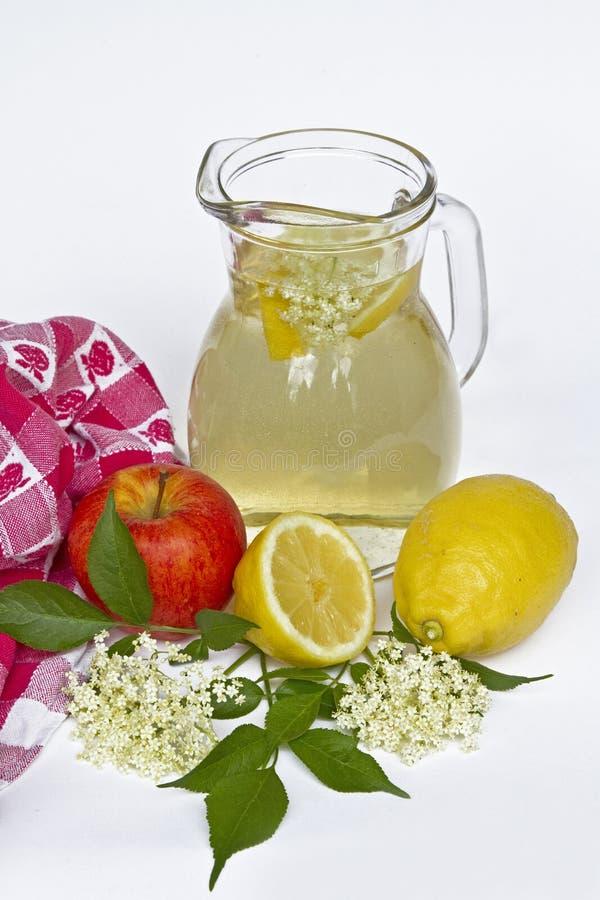 Elderberry lemonade stock photo