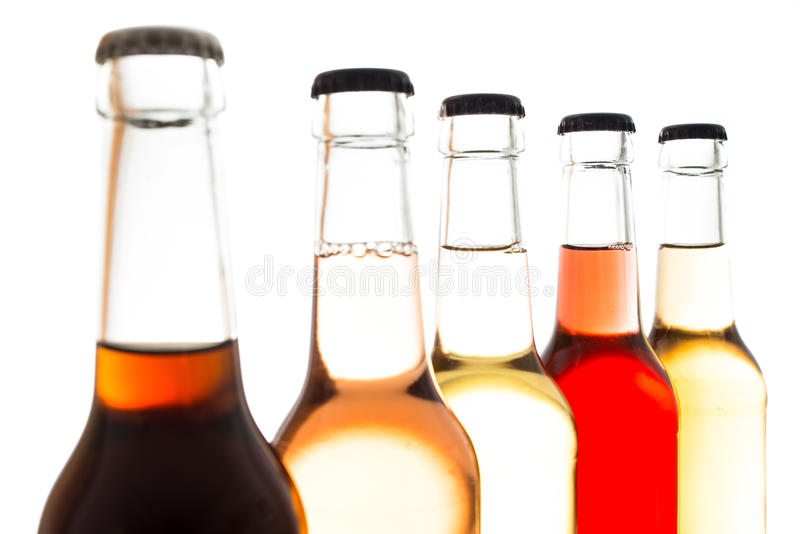Elderberry lemonade with other soft drinks royalty free stock photo