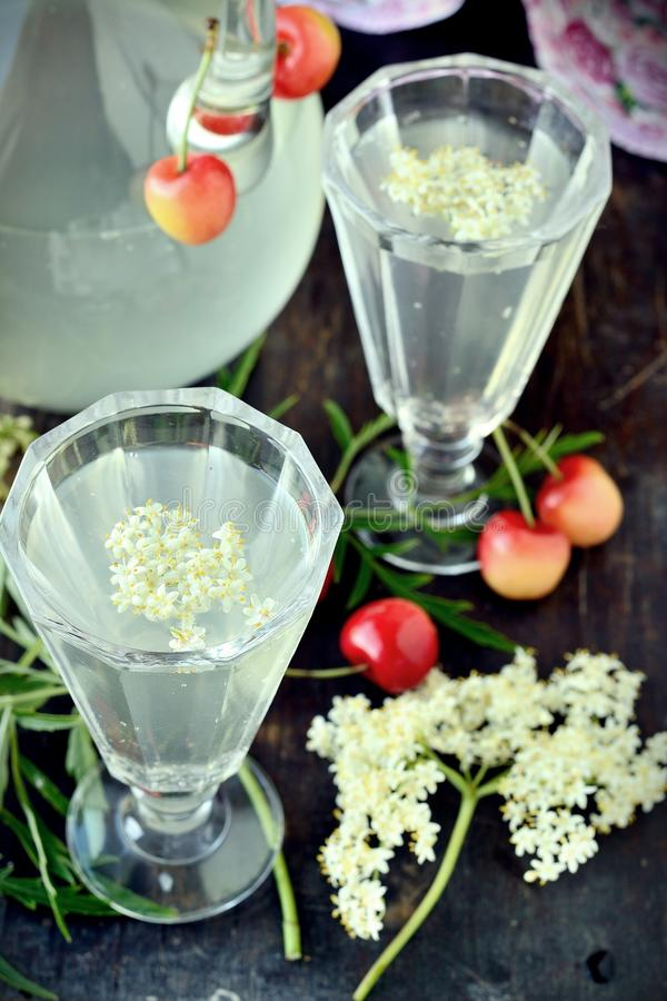 Elderflowerdrank royalty-vrije stock foto