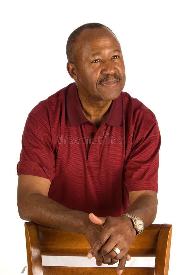 Elderly African American man. stock image