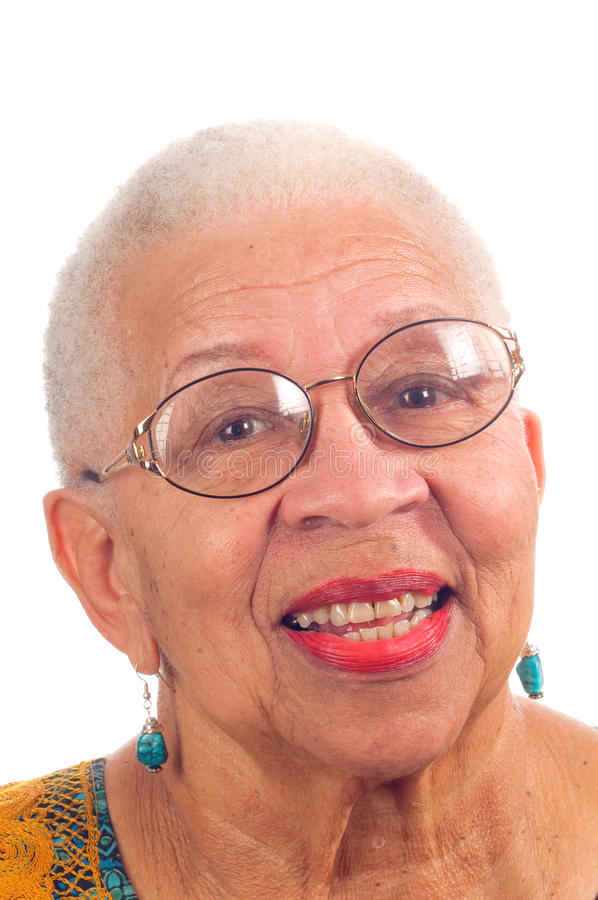 Elderly African American woman stock image