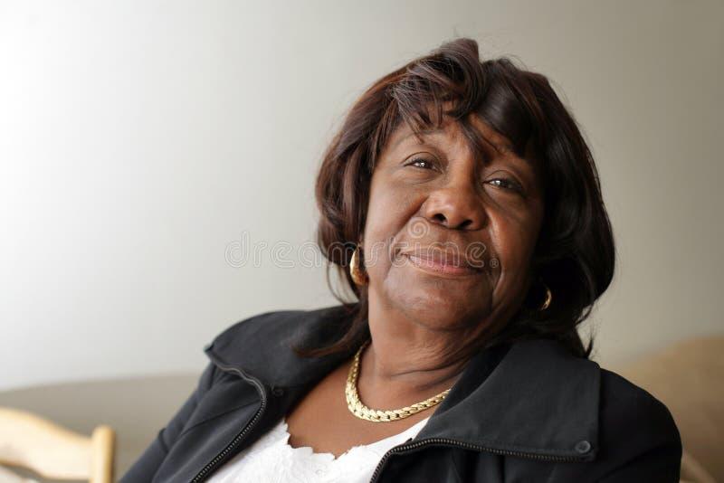 Elderly african american woman stock image