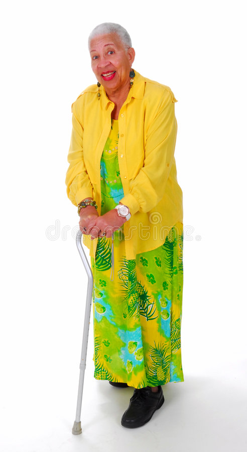 Elderly African American woman royalty free stock photo