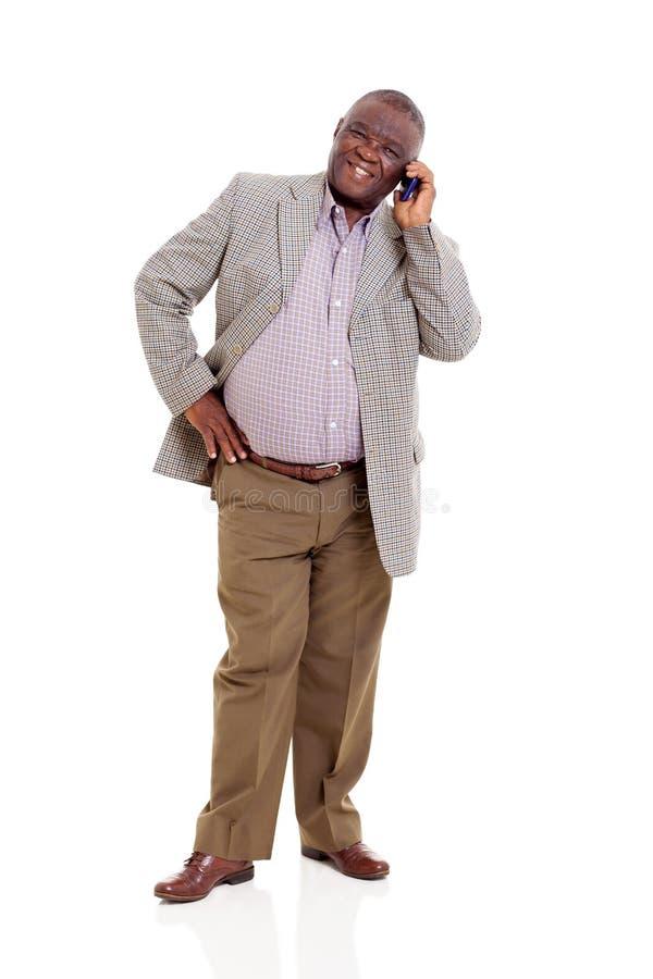 Download Elderly African Man Mobile Phone Stock Image - Image: 33291363