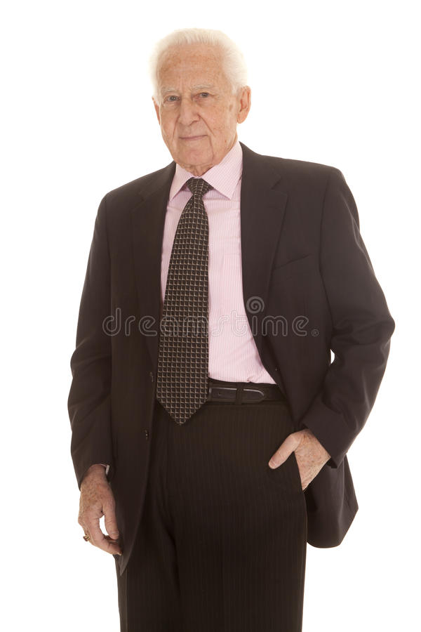 Free Elderly Business Man In Suit Stock Images - 37825404