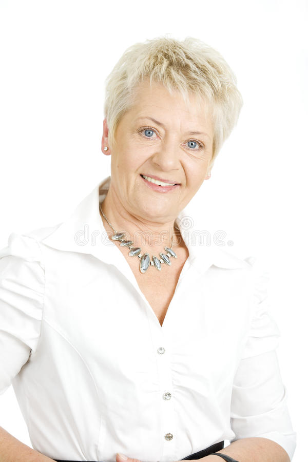Elderly businesswoman royalty free stock photography