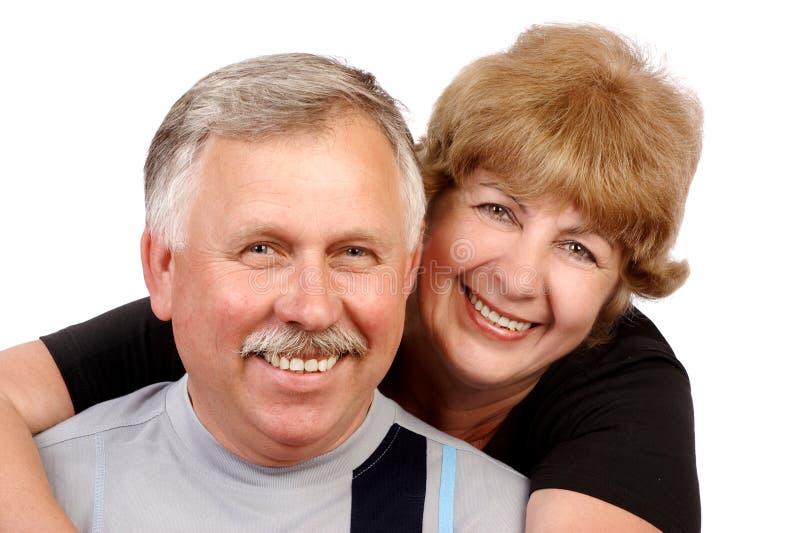 Elderly couple. Happy elderly couple in love