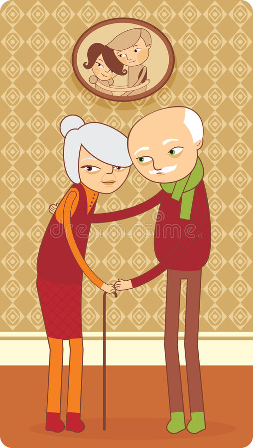 Download Elderly couple stock vector. Illustration of elderly - 12642810