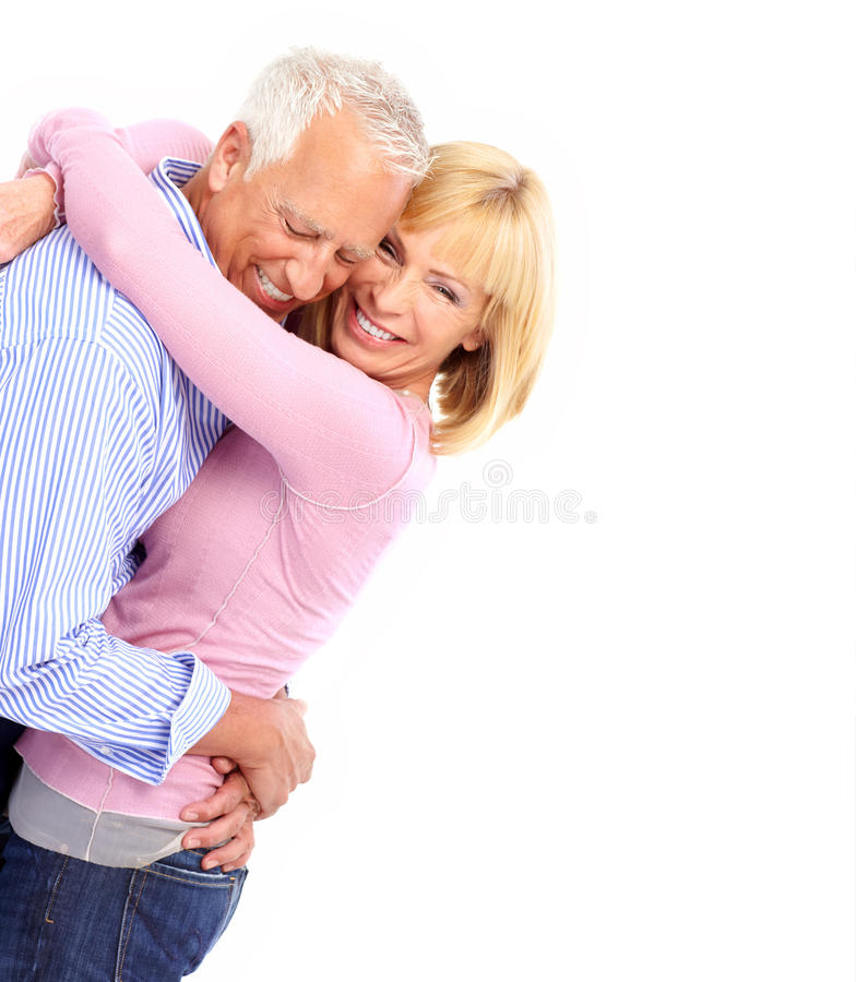 Elderly couple stock images