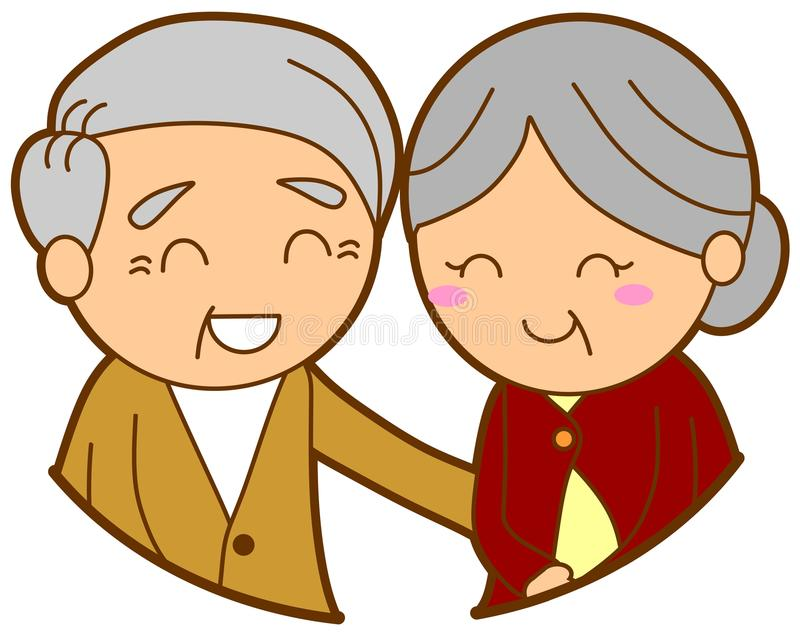 Elderly couple. This is an illustration of elderly couple stock illustration
