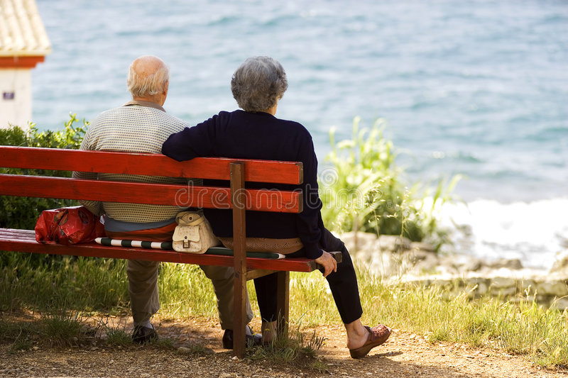 Download Elderly couple stock image. Image of colourful, holding - 2503293