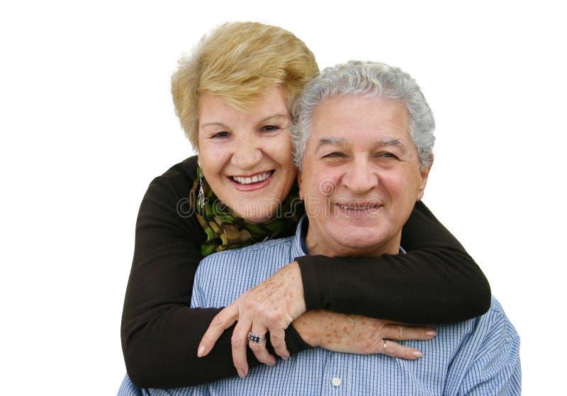 Elderly couple. Happy mature couple royalty free stock image