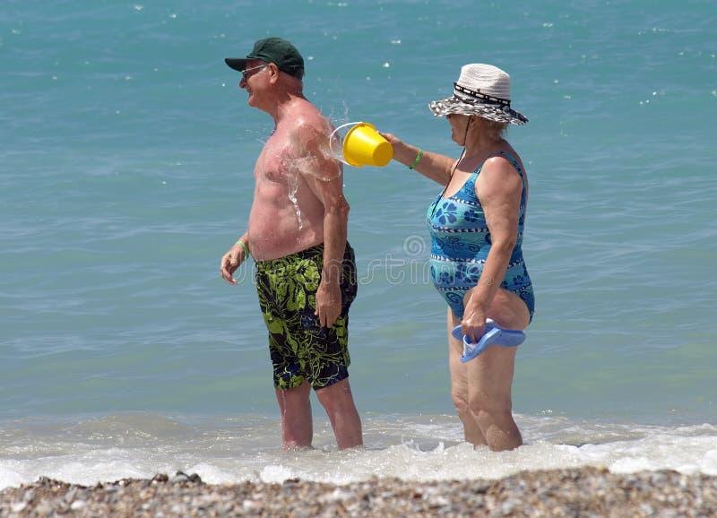 Download Elderly couple stock photo. Image of ocean, beach, healthy - 5598786