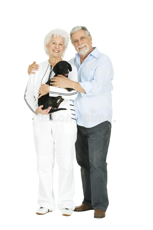 Download Elderly Couple With A Dachshund Stock Image - Image: 17915417