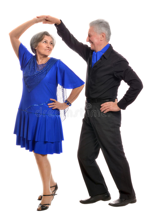 Elderly couple dancing royalty free stock photos