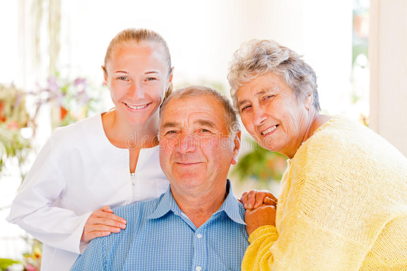 Elderly couple stock images