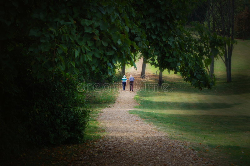 Download Elderly Couple Walking stock image. Image of trail, relax - 262139