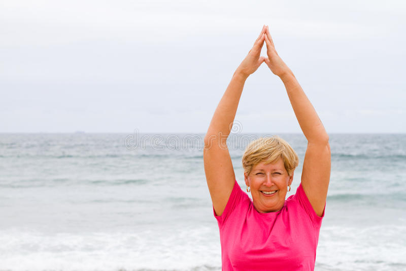 Download Elderly exercise stock image. Image of pink, nature, sand - 12633253