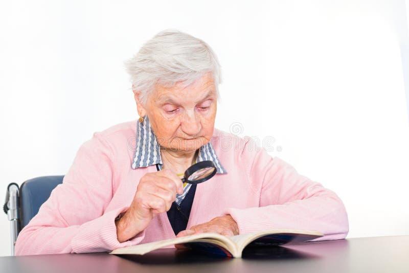 elderly eyes focus woman στοκ εικόνες