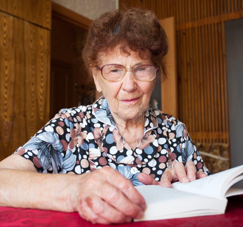 Elderly female stock image