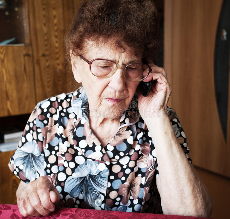 Elderly female royalty free stock image