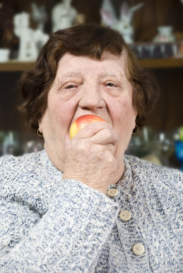 Elderly Healthy Food Royalty Free Stock Image