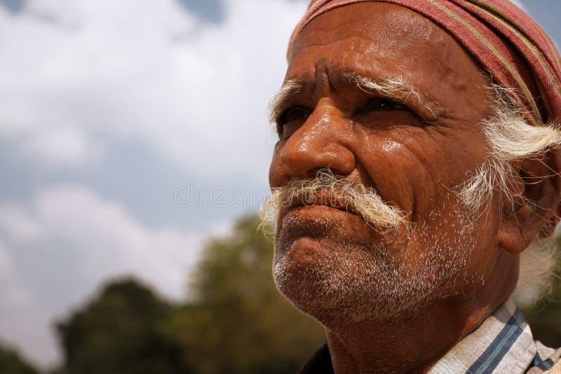 Elderly indian man stock image