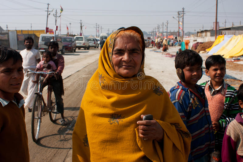 Elderly indian woman royalty free stock images