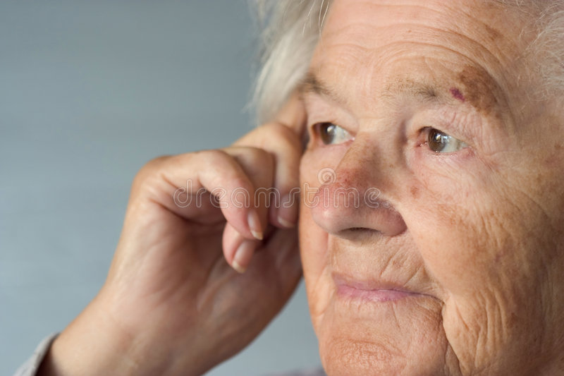 Elderly lady royalty free stock photography