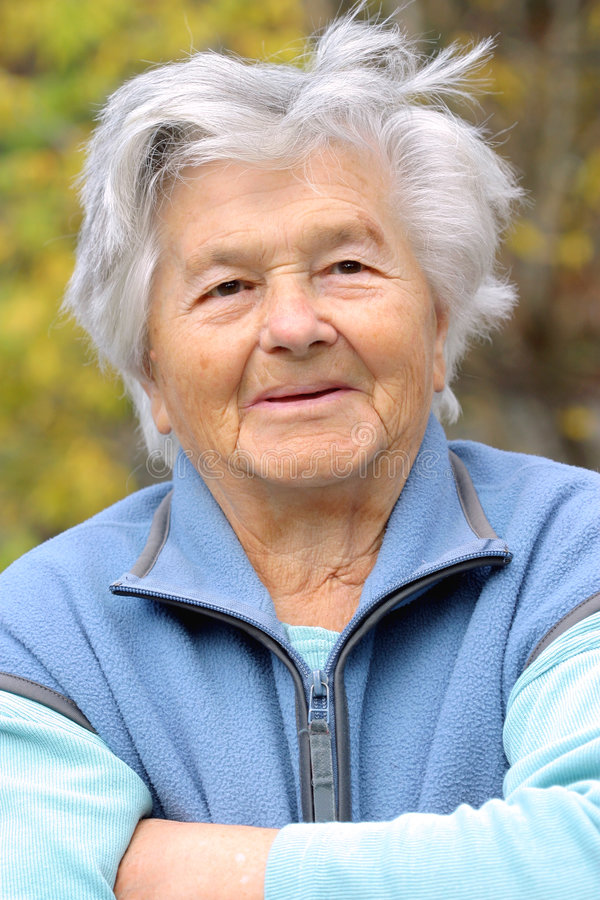 Elderly lady stock photos
