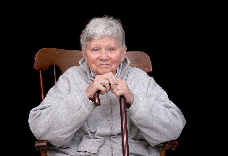 Elderly lady sitting