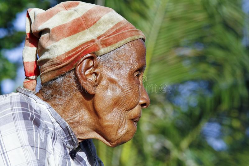 Elderly Malagasy woman portrait. Madagascar stock images