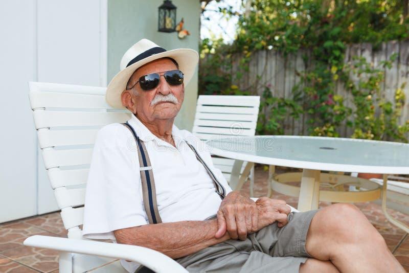 Elderly man. Elderly eighty plus year old man outdoor portrait stock image