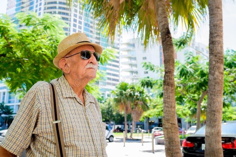 Elderly man. Elderly 80 plus year old man in a outdoor setting stock photos