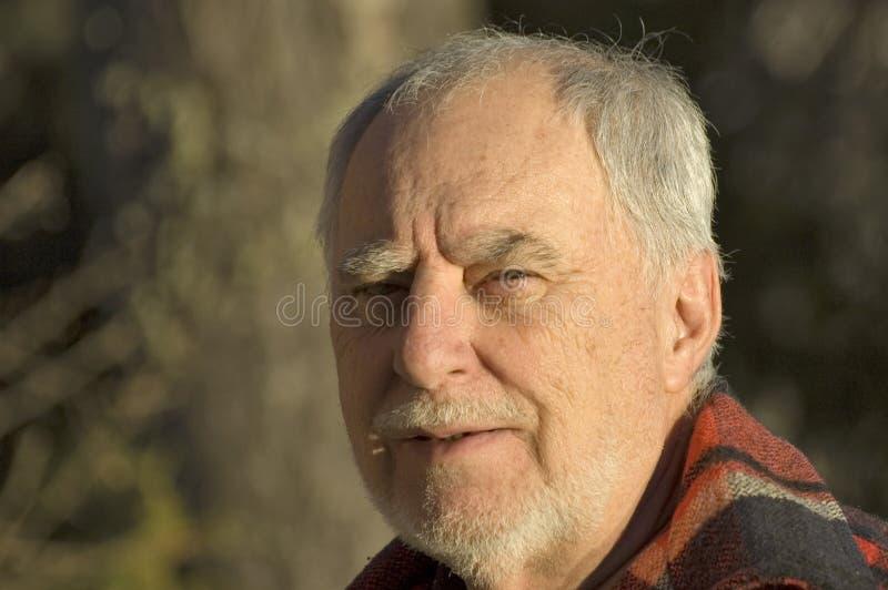 Download Elderly man portrait 1 stock image. Image of hand, happy - 360619