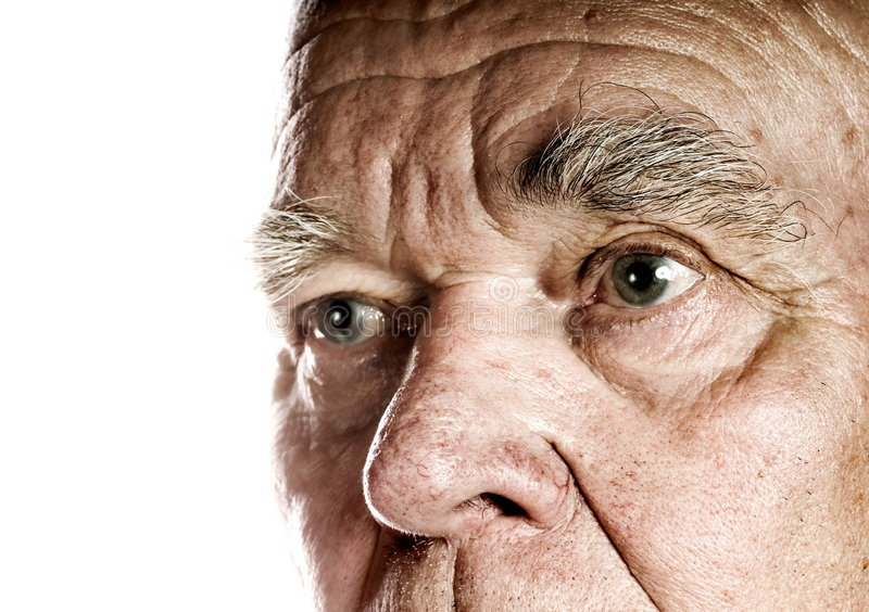 Elderly man's face royalty free stock image