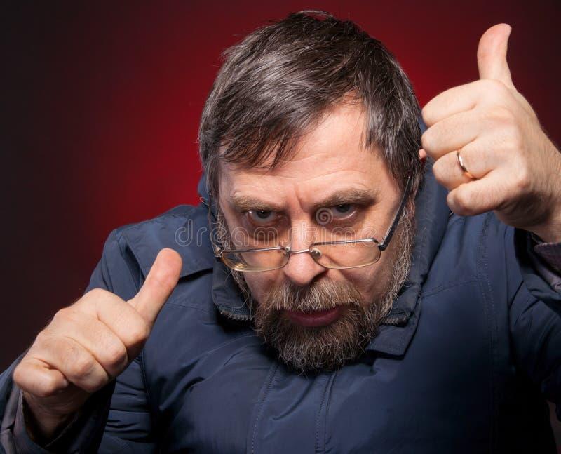 Download Elderly man shows ok sigh stock image. Image of adult - 29440609